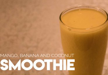 Mango, banana and coconut smoothie